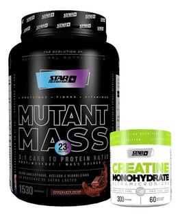 Mutant Mass 1,5 Kg + Creatina X 300gr Star Nutrition