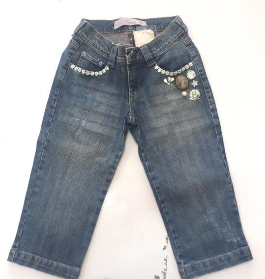 Calça Jeans Capri Feminina Kishny