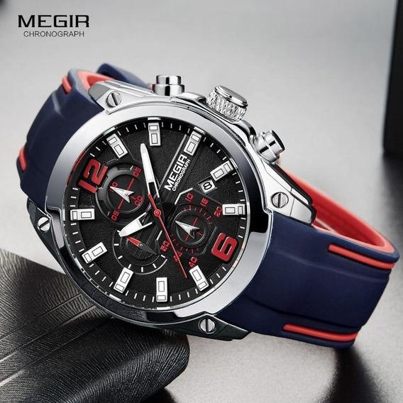 Relógio Megir 2063 Original Masculino Casual Esportivo