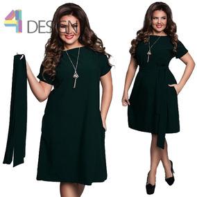 Vestido Formal Verde Oscuro Talla Grande