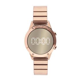 Relógio Euro Feminino Digital Rosé Eujhs31bac/4d Com Nf-e