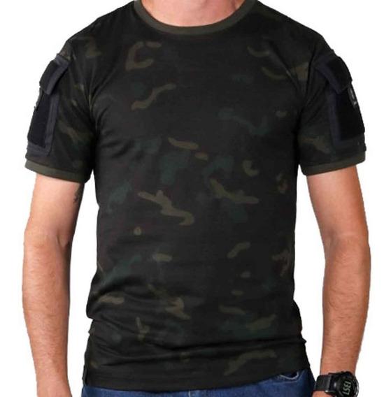 Camiseta Tática T-shirt Bélica Ranger - Multicam Black