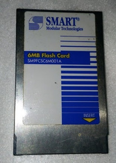 Cartão De Memoria Flash Pcmcia 6mb Sm9fcsc6m001a