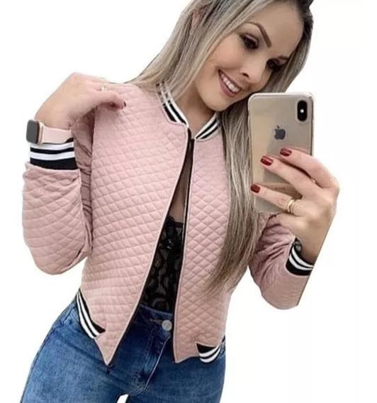 Jaqueta Bomber Feminina Moda Evangelica Blusa Social Roupas