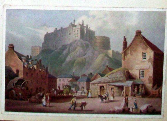 Tarjeta Postal Gran Bretaña Edinburgh Castle About 1810 C.19