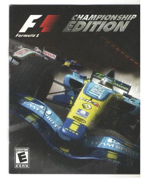 Manual De Instrucoes Jogo F1 Championship Edition /play3