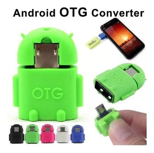 Adaptador Micro Usb Otg Pendrive P/ Celular Android Robo