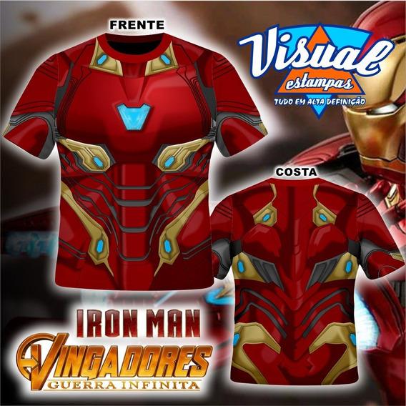 Camiseta Homem De Ferro Mark 48 Guerra Infinita
