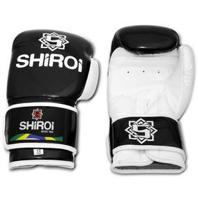 Par Luva Boxe Muay Thai Kickboxing Preta Injetada Shiroi