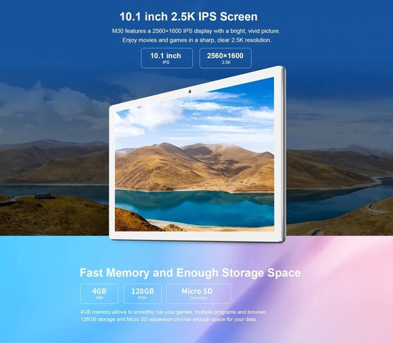 Tablet Teclast M30 128gb 4gbram Dual Chips. Seminovo