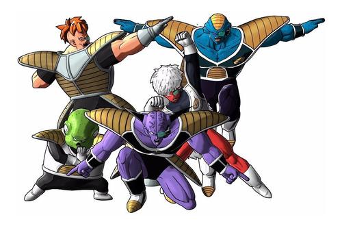 Dragon Ball Z Goku Fuerzas Especiales Ginyu Afiche Set Ajd