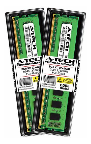 A-tech 8gb Kit (2x 4gb) Ddr3 1333mhz Pc3-10600 Desktop Memor
