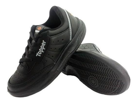 Zapatillas Cuero /topper /tenis /xforcer Negro/ Original