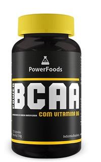 Bcaa Com Vitamina B6 - 120 Cápsulas - Powerfoods