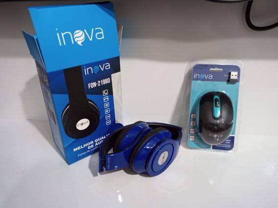 Headphone + Mouse Óptico Sem Fio 12x S/juros Frete Grátis