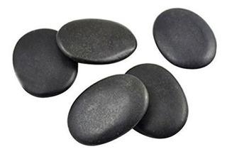 7pcs / Set Piedra Masaje Basalto Útil Rocas 3x4cm Tamaño