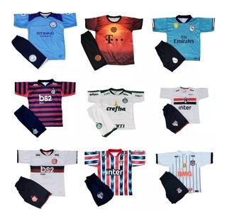 Camisas Times Brasileiros Infantil + Shorts Brasileirão 2019