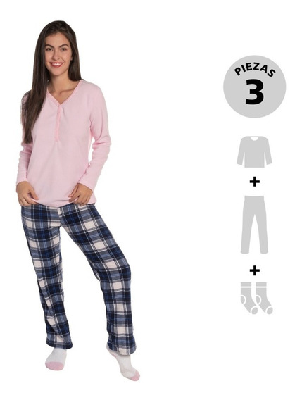 Pijama Pack 3: Top, Pantalón Y Calcetas Thats Hot Bhi191803