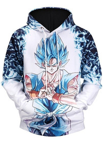 Blusa Moletom Vegeta Dragon Ball Goku Full Unissex Bolsos