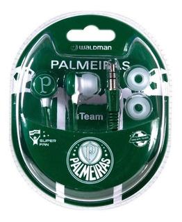 Fone De Ouvido Para Celular Ou Smartphone C/ Logo Palmeiras