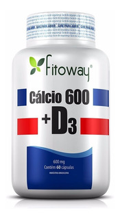 Cálcio 600 Com Vitamina D3 - Fitoway - 60 Cápsulas