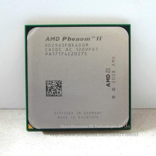 Imagen 1 de 3 de Procesador Am3 Phenom Ii X4 965 3.4ghz Black Edition