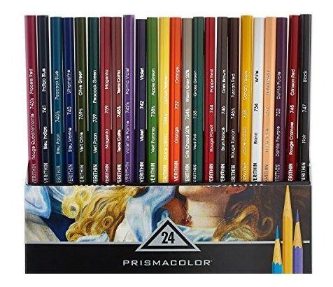 Prismacolor 2427 Premier Verithin Colored Pencils, 24-count