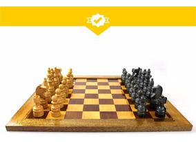 Conjunto Para Xadrez Em Madeira