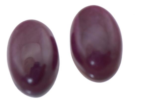 2 Rubi Pedra Preciosa Natural Confecção Brinco Colar J18633