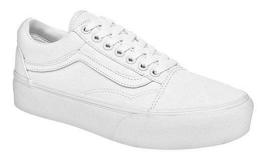 Sneaker Deportivo Vans Textil Niño Blanco Oldskool 12629ipk
