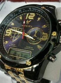 Relógio Masculino De Luxo Ananógico E Digital Potenzia