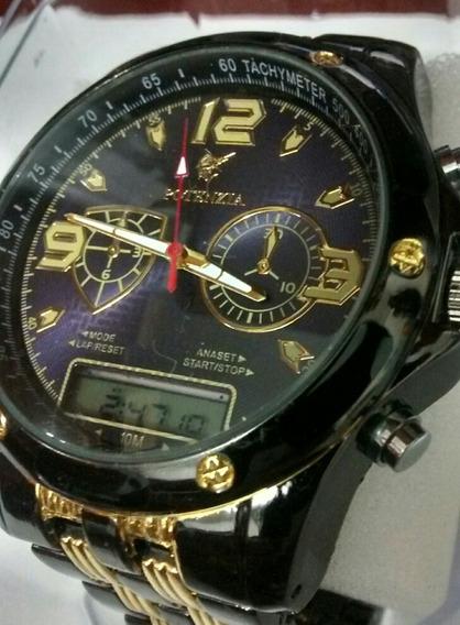 Relógio Masculino De Luxo Ananógico Digital Potenzia Barato