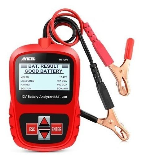 Testador E Analisador Digital Bst200 Para Baterias De Carros Motos Caminhões (cca/amperagem/voltagem)