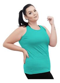 Roupa Feminina Camiseta Regata Fitness Plus Size +56