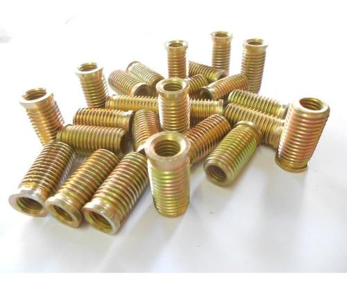 Imagem 1 de 3 de Rosca Postiça M10 X 14mm X 20mm Bucha Rosqueada Com 10 Pçs