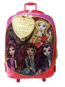 Mochila Escolar Ever After High C/ Brinde Pronta Entrega