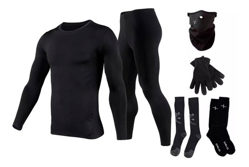 Equipo Termico Moto Remera + Calza + 4 Medias + Mascara Oslo