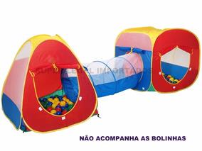 Toca Barraca Infantil 3 Em 1 Com Tunel- Linda Frete Gratis