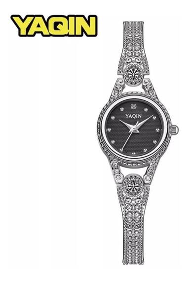 Reloj Yaqin Original Vintage Moda Diamantes Sirconia Regalo