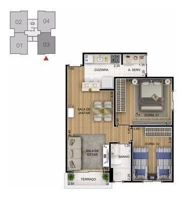 Apartamento 2 Dorm/reg Campolim Paris /transfiro Financia
