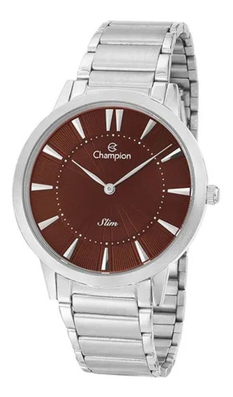 Relógio Champion Masculino Prateado Slim Ca21740v