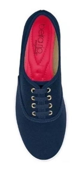 Sapato Casual Feminino Lona Marinho Beira Rio