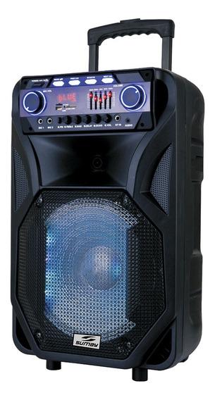 Caixa Amplificada 400w Thunder Black Sm-cap12t Sumay