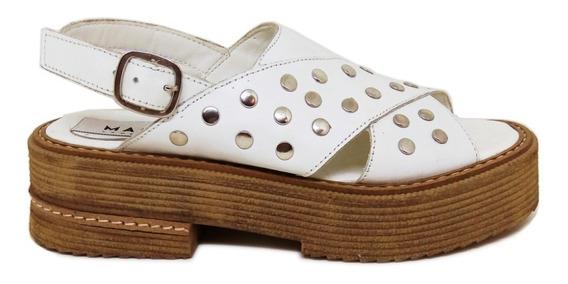 Sandalias Mujer Zapatos Cuero Zuecos Ojotas Magali Shoes