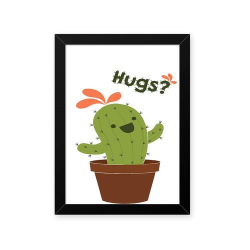 Quadro Cacto Hug 23x33cm