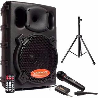 Parlante Winco 300w + Microfono Inalambrico +tripode Karaoke