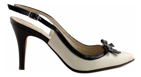 Zapato Cuero Mujer Briganti Taco De Vestir - Mccz03294 Ch