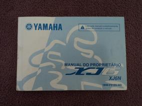 Manual Do Proprietário Yamaha Xj6 Completo
