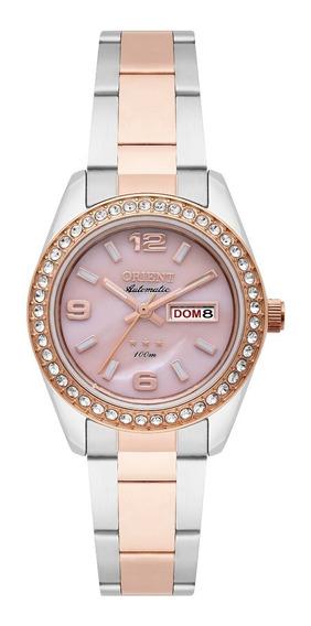 Relógio Orient Feminino Automático 559tr008 R2sr Rose Misto