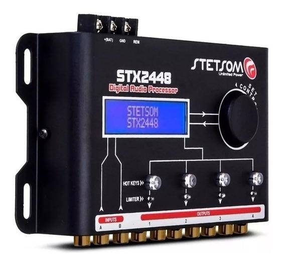 Processador De Audio Stetsom Stx2448 Crossover 4 Canais